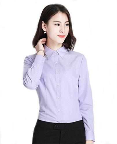 事前に経験的サッカーFoxseon レディース 女性 オフィス シンプル Vネック ワイシャツ 半袖 白Yシャツ スリム デザイン