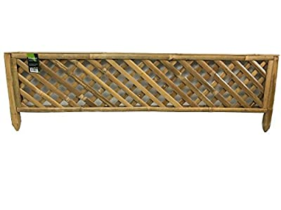 """Master Garden Products Woven Bamboo Edging Trellis Panel 48"""" W x 14"""" H"""