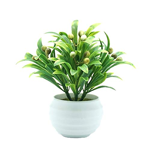 MSYOU Creative Simulation Plant Pots Plastic Flower for Indoor and Outdoor Home Garden Desktop Decoration