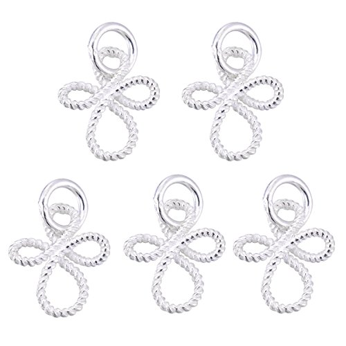 Sterling Silver Angel Charm Pendant - VALYRIA 5pcs 925 Sterling Silver Angel Charm Pendant Jewelry Making Findings 13.5mmx11mm