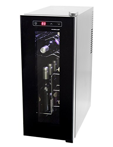HOMEIMAGE Thermo Electric Wine Cooler for 12 Bottles with Vertical Rack - HI-12C by HOMEIMAGE
