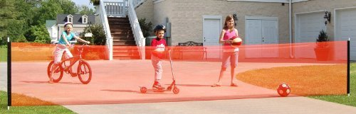 Kidkusion Non Retractable Driveway Safety Net, Orange, 18' by KidKusion