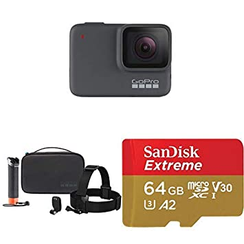 GoPro HERO7 Silver + Adventure Kit + (1) microSD Card