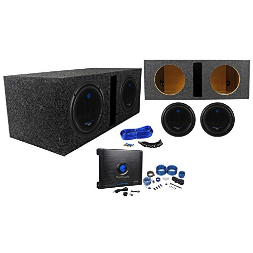 "Package: (2) Planet Audio AC10D 10' Dual 4-OHM Car Subwoofers Totaling 3000W + Rockville RDV10 Dual 10"" 1.1 Cu. Ft. Vented Sub Enclosure + Dual Enclosure Wire Kit With 14 Gauge Speaker Wire + Screws + Spade Terminals + Planet Audio Anarchy AC3000.1D 3000W Class D Mono Car Amplifier 1 Ohm Stable + Rockville RWK41 4 Gauge 2 Channel Complete Wire Kit With RCA Cables"