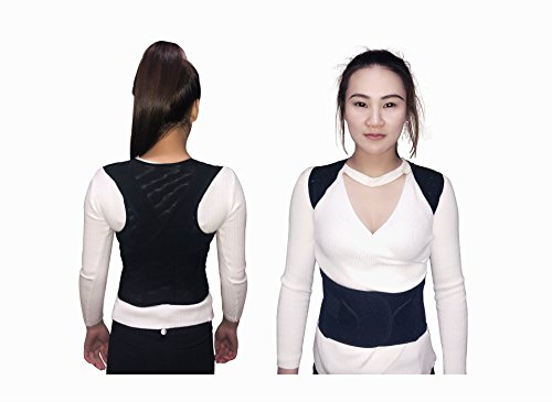 Posture Corrector for women &Men Adjustable, Breathable, Comfy & Stretchable, For Lower and Upper Back Pain, Support Brace Improves Minimize Rounded Shoulders, Hunched Back & Stand Tall - Guarantee Kickstarter