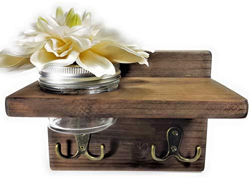 Mounted Wooden Holder Organizer Flower