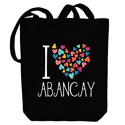 hearts Cities I love colorful Canvas Bag Idakoos Abancay Tote Peruvian wIqB1cF