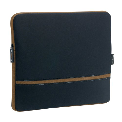 (Targus Slipskin Peel Laptop Case Fits Laptops Up To 15.4 Inch Screens, Black with Brown Accents (TSS078US))