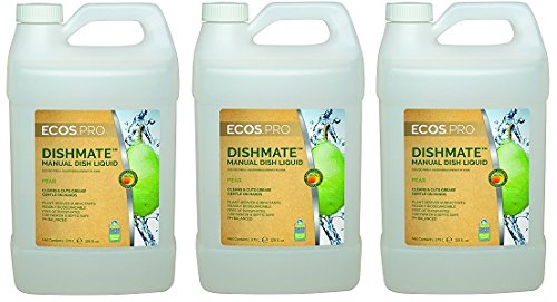 Earth Friendly Products Proline PL9720/04 Dishmate Pear Ultra-Concentrated Liquid Dishwashing Cleaner, 1 gallon Bottles (Case of 4) (3-(Case of 4)) by Earth Friendly Proline