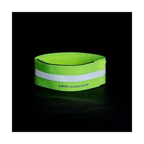 Ultrasport Banda reflectante; banda de reflejo de luz con velcro para mayor seguridad en cualquier actividad outdoor, amarillo neón 7