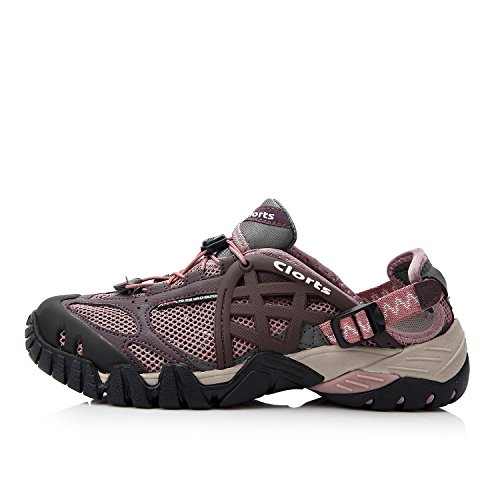 Qianling Collection Womens Water 60% Mesh/40% PU Athletic Water Shoes Purple MokVp