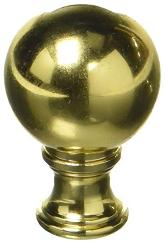 (Royal Designs F-106PB-2 Medium Ball Lamp Finial, Polished Brass)