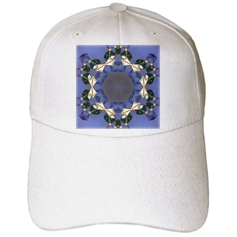 3dRose Cindy Thorrington Haggerty Kaleido Mandela - Jumbo Jewels - Caps - Adult Baseball Cap (cap_4002_1) - Jumbo Jewel