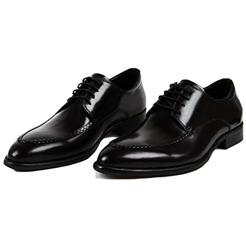 Pointu Hommes Leather RENHONG Groom Business Derby Formal à pour Chaussure Oxford Toe Lacets Black Marron Noir 8PxqTPw