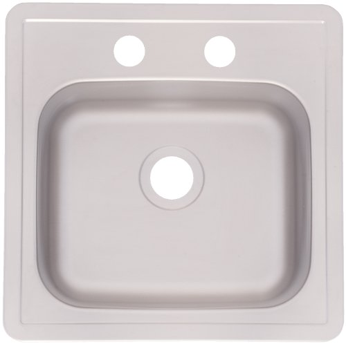 (Kindred FBS602NB Single Bowl Stainless Steel 15x15in. Topmount Sink)