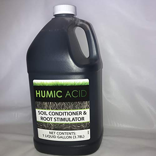 Humic Acid- HaFa- Natural Lawn and Garden Treatment- Soil Conditioner- All Season- Great for Compact Soils, Standing Water, Poor Drainage- Liquid Carbon- 1 Gallon- Organic