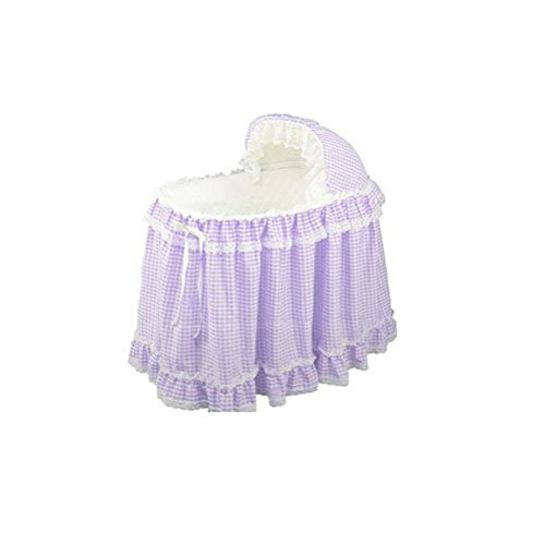 Babydoll Gingham Liner/Skirt and Hood, Lavender, 16'' x 32'' by BabyDoll Bedding