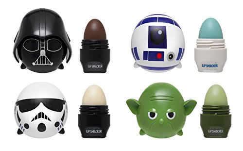 Lip Smacker Disney Tsum Tsum Lip Balm 4 Pack - Star Wars Yoda, Darth Vader, R2D2, Storm -