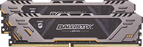 Ballistix Sport AT 32GB Kit (16GBx2) DDR4 3200 MT/s (PC4-25600) DR x8 DIMM 288-Pin Gaming Memory - BLS2K16G4D32AEST