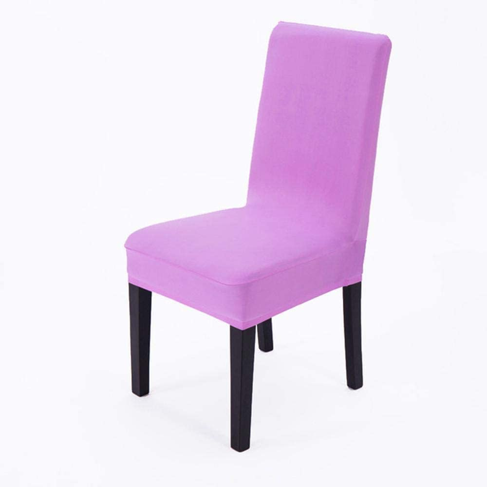 Solid Chair Cover Stretch Elastic Slipcovers Spandex Machine Washable Chair Seat Cover for Hotel Dining Home Decoration Violet Universal Size