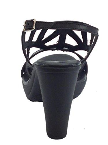 Mercante di Fiori Women's Fashion Sandals Black C0bEZs9Q