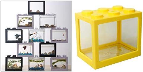 Serenable Mini pecera, pequeña pecera Betta pecera de acuario para medusas peces dorados , caja de decoración de -Varios colores 5
