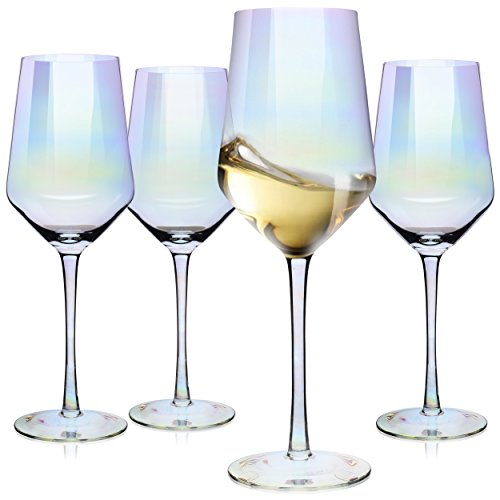 Wine Glasses, Large Red Wine or White Wine Glass Set of 4 - Unique Gift for Women, Men, Wedding, Anniversary, Christmas, Birthday - 17oz, 100% Lead Free Crystal