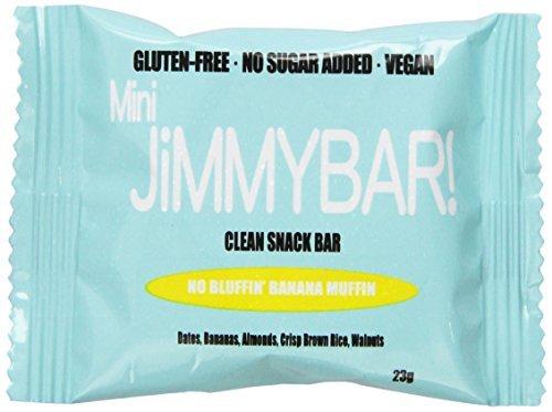 Muffin Banana Mini (JimmyBar Mini No Bluffin' Banana Muffin, 0.80 Ounce (Pack of 24) by JimmyBar)