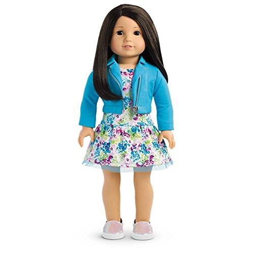 American Girl - 2017 Truly Me Doll: Light Skin, Black Hair, Brown Eyes - Girl Haired Brown