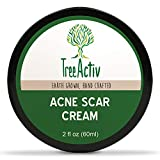 TreeActiv Acne Scar Cream | Fade Away Pimple Marks, Blemishes & Dark Spots | Reduces the Appearance of Old & New Scars | Rosehip Oil, Quaternized Honey, Jojoba Oil, Aloe Vera, Vitamin E (2 fl oz)