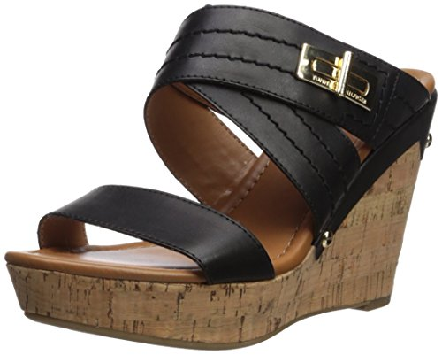 Canella Women's Hilfiger Mili Tommy 6 Sandal Black Wedge Black M US 5wqXOnOBx