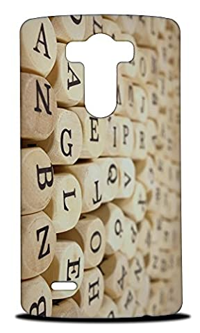 Foxercase Designs Wood Letter Block (Not Real Wood) Hard Back Case Cover for LG G3 (Real Wood Cover For Lg G3)