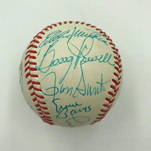 Ernie Banks Ron Santo Kaline Willie Mccovey Hall Of Fame Multi Signed Baseball - Autographed Baseballs