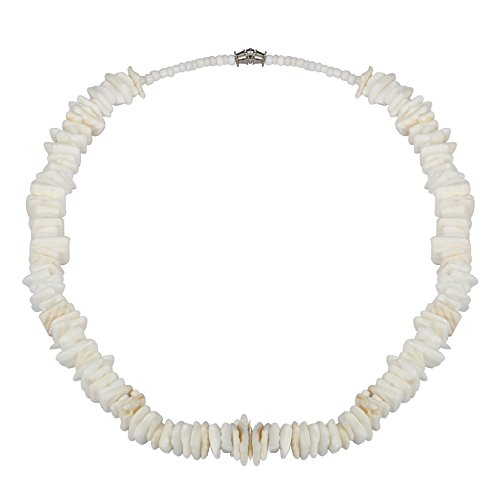 LOLIAS Hawaiian Puka Necklaces for Men Women Seashell Beach Necklace Screw Clasp 18 (Hawaiian Shell Jewelry)