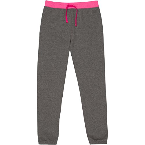 New Balance Big Girls' Athleisure Pants, Heather/Pink, 10/12
