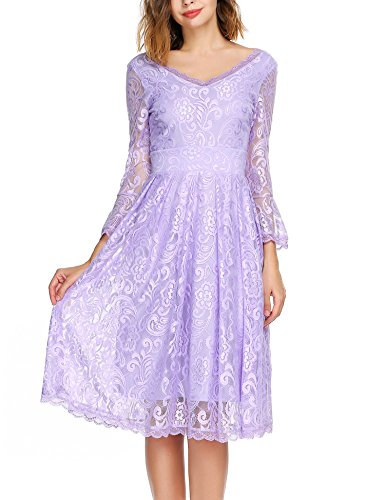 Lavender Floral Dress - 3