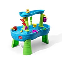 Step2 Rain Showers Splash Pond Water Table   Kids Water Play Table   13-Piece Water Toy Accessory Set
