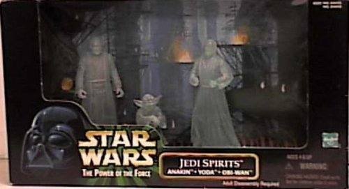 (Star Wars Power of the Force Cinema Scenes Jedi Spirits with Anakin, Yoda, & Obi-wan Kenobi Action Figures By Hasbro)
