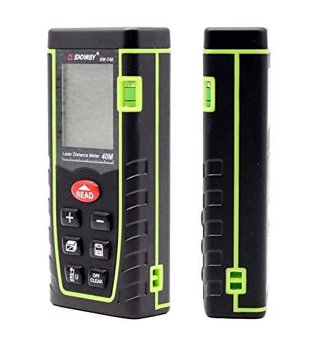 SNDWAY SW-E40 40M 131FT Digital Diastimeter Laser Distance Meter Laser Rangefinder Meter Area Volume Measure Tool