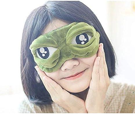 le travail le bureau Masque de sommeil Monbedos en peluche douce pour les yeux Style grenouille Triste Masque de sommeil Confortable L/éger pour les voyages la pause d/éjeuner