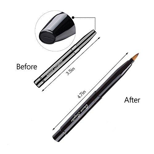 Lipstick Brush, Retractable Lip Brush Travel Mini Travel Makeup Brush For Lipstick