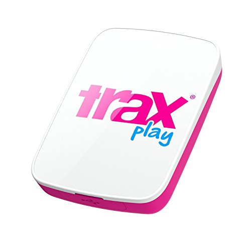 Trax Play NEW Upgraded Live Outdoor GPS Tracker for Children & Pets, Pink