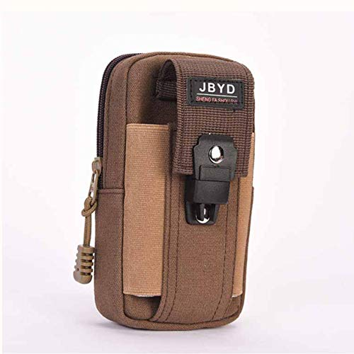 - Men Canvas Belt Loop Hook Holster Outdoor Pouch Bag for Mobile Phone up to 6inch