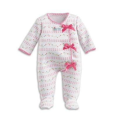 American Girl Bitty Baby Pink Bow Sleeper