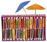 Food Picks - Parasol Umbrella Picks Luau Party Supplies - Wedding - Party - (144 pieces)