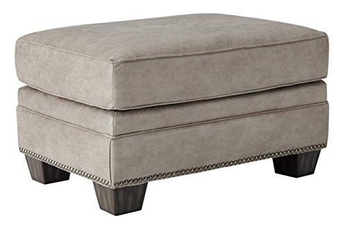 Ashley Furniture Signature Design - Olsberg Traditional Ottoman with Nailhead Trim - Firmly Cushioned - Steel