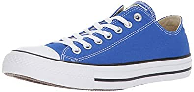 Converse Chuck Taylor All Star Seasonal Canvas Low Top Sneaker, Hyper Royal, 10 US Men/12 US Women