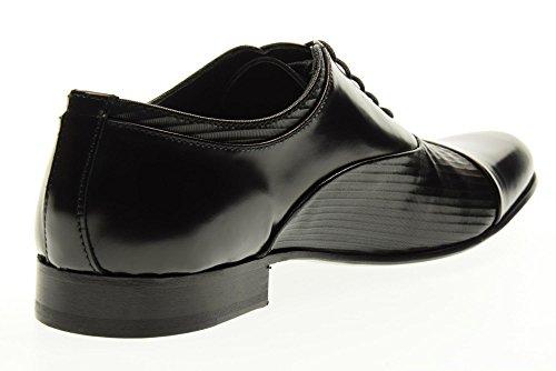 Eveet Chaussures Homme dentelle-15910 P-Rex en Ligne Taille 44 Black