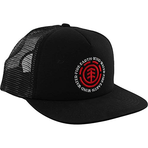 Element Skateboards Seal Flint Black Mesh Trucker Hat - Adjustable