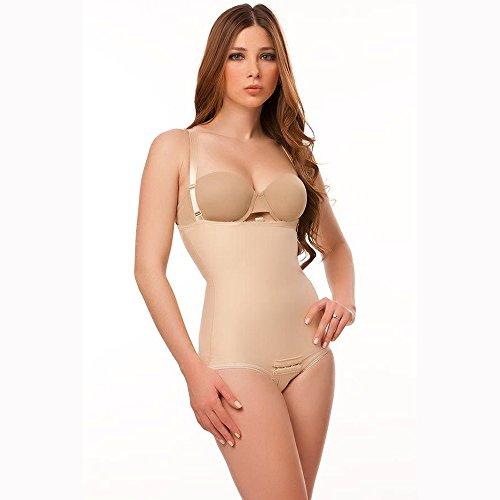Isavela BS02 Stage 2 Body Suit w/ Suspenders-Panty Length-Medium-Black from Isavela